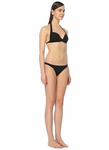 Jets Swimmear Üçgen Bikini Üstü Siyah
